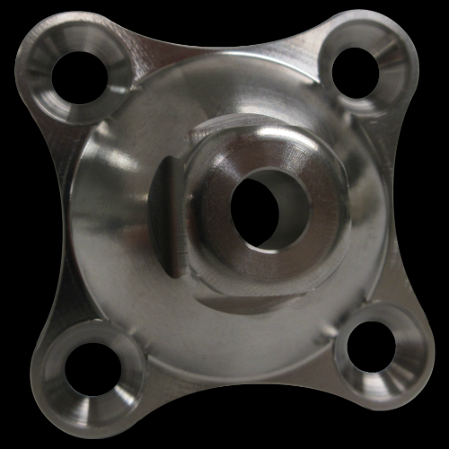 4-Hole Male, Concave Base; Stainless