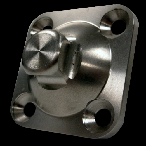4-Hole Male, Solid Center; Titanium