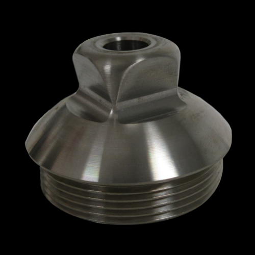 Rotating Pyramid Insert w Hole; Stainless Steel