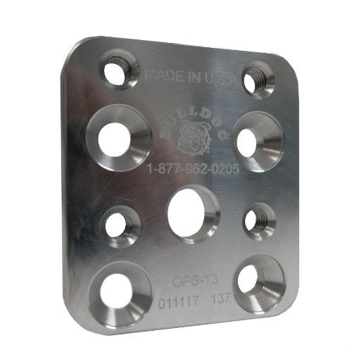 Pediatric 13 mm Offset Plate, M6; Aluminum