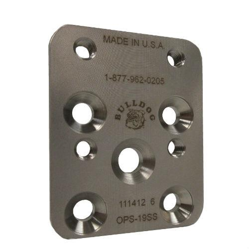 Pediatric 19 mm Offset Plate, M6; Stainless Steel