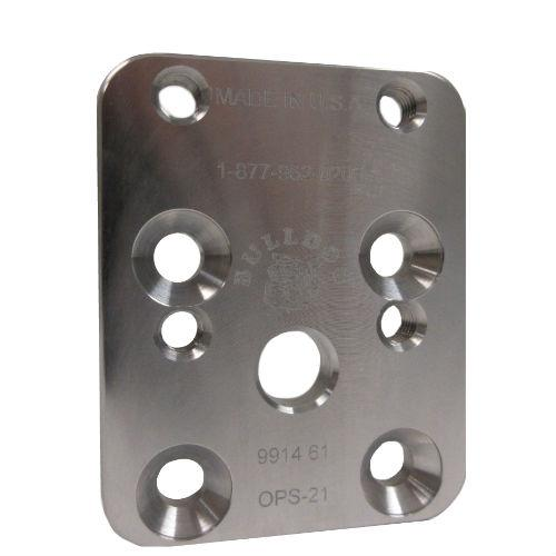 Pediatric 21 mm Offset Plate, M6; Aluminum