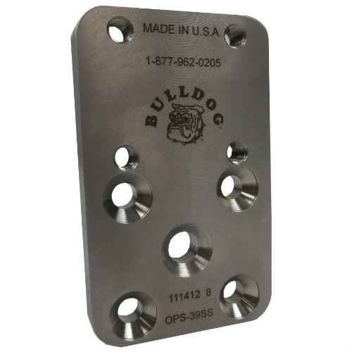 Pediatric 39 mm Offset Plate, M6; Stainless Steel