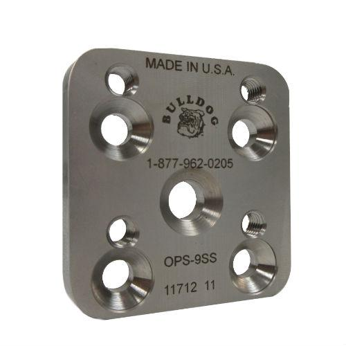 Pediatric 9 mm Offset Plate, M6; Stainless Steel