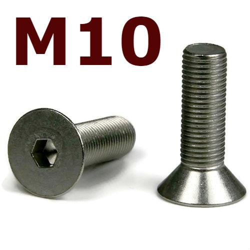 M10 Flat Head Cap Screws