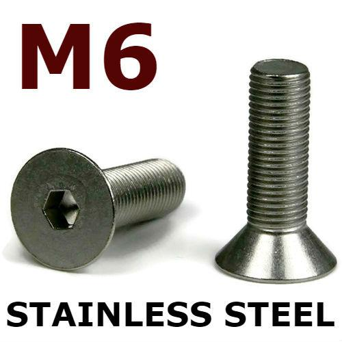 M6 Flat Head Cap Screws Stainless Steel