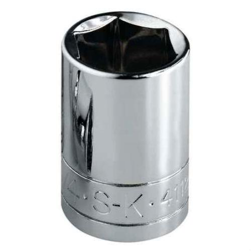 "SK 3/8"" Drive 6 Point Standard Chrome Socket, 7/16"""