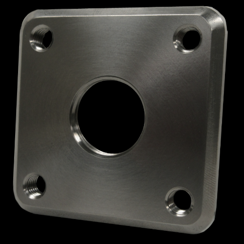 Threaded Attachment Plate for APL lock, Square; Titanium