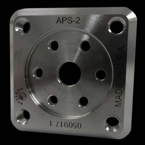 4-Hole Threaded Square Attachment Plate; Titanium