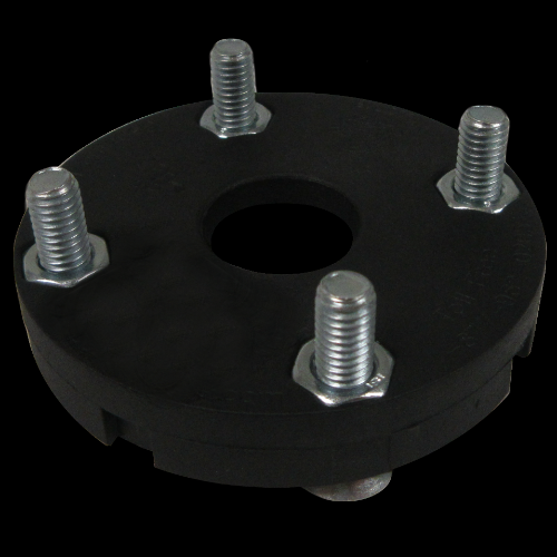 4-Hole Threaded Attachment Plate, with Nuts