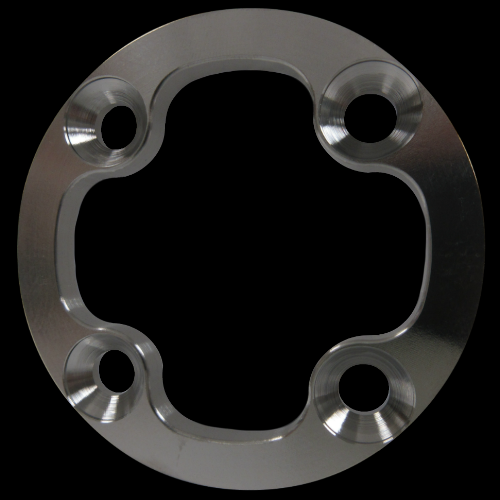 4-Hole Countersunk Attachment Plate; Stainless Steel