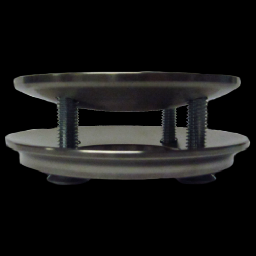 Four Hole Domed Attachment Plate