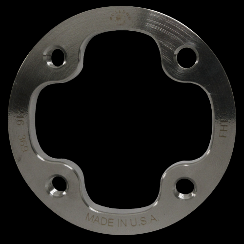 4-Hole Threaded Attachment Plate, 6 mm; Titanium