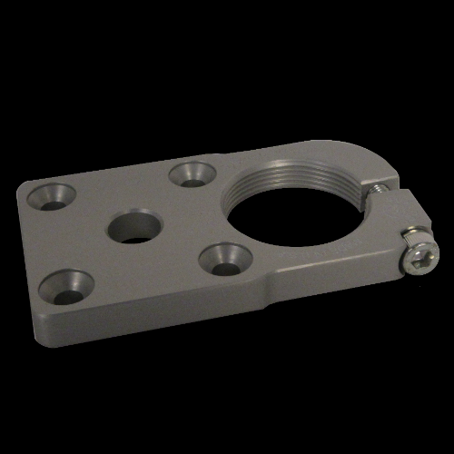 Attachment Plate with Offset Female Thread; Aluminum