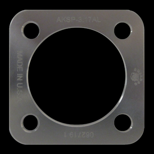 Square Spacer Plate, Aluminum; 3.17 mm